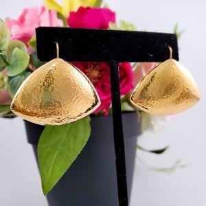 TRUE VINTAGE Gold Monet Modern Earrings